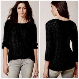 Anthro Knitted & Knotted Chunky Sunstitch Sweater